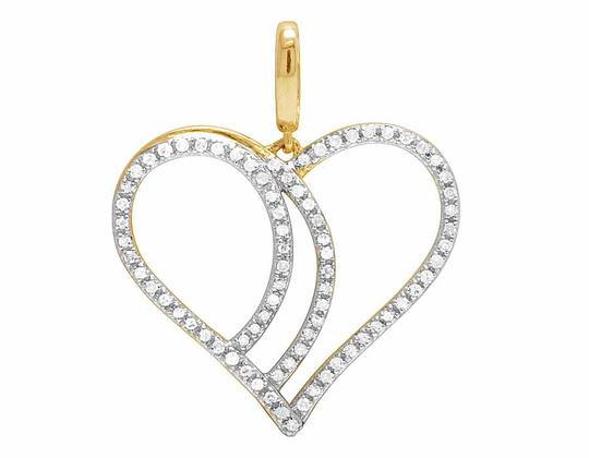 Preload https://item3.tradesy.com/images/10k-yellow-gold-ladies-genuine-diamond-one-row-heart-pendant-14-ct-26-charm-21628702-0-1.jpg?width=440&height=440