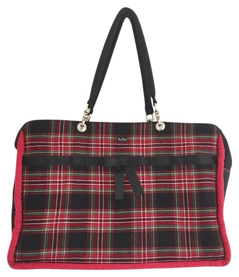 Preload https://item1.tradesy.com/images/macintosh-plaid-black-red-white-cotton-blend-weekendtravel-bag-21628805-0-1.jpg?width=440&height=440