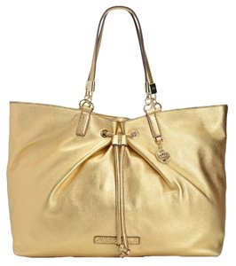 Juicy Couture Large Luxurious Leather Tote in Gold