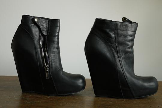 Rick Owens Leather black Boots