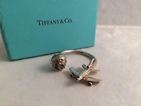 Tiffany & Co. Tiffany airplane and globe sterling keyring