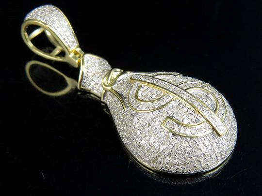 Jewelry Unlimited Men's Genuine Diamond Money Bag Pendant Charm 1.5ct 1.7