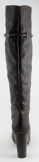 See by Chloé Leather Knee High Designer Round Toe Dark Brown Boots