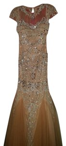 Sherri Hill Prom Silver Dress