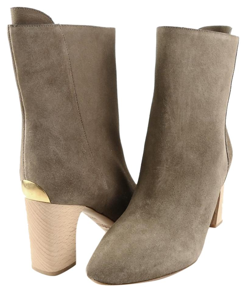 Chloé Taupe Ch21085 38.5 Natural Suede Ankle Eur 38.5 Ch21085 Boots/Booties 787c1d