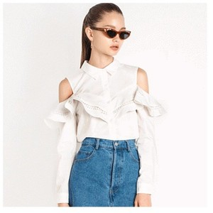 Other Shoulder Lace Top White