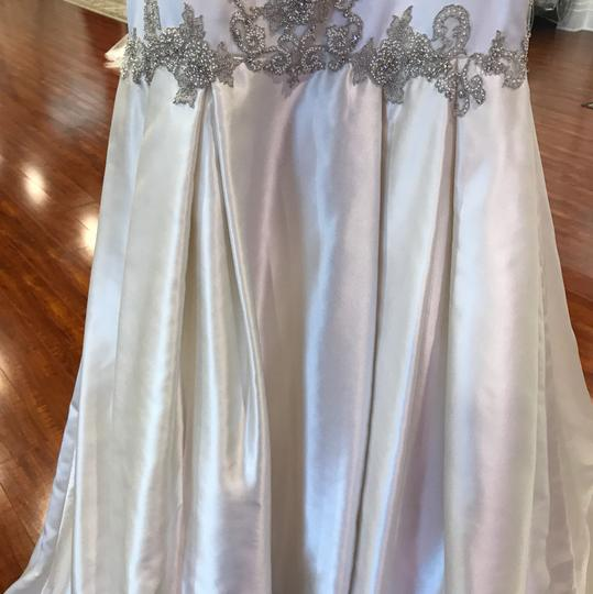 Pronovias Ivory Geneveve Satin Pinal Wedding Dress Size 4 (S)
