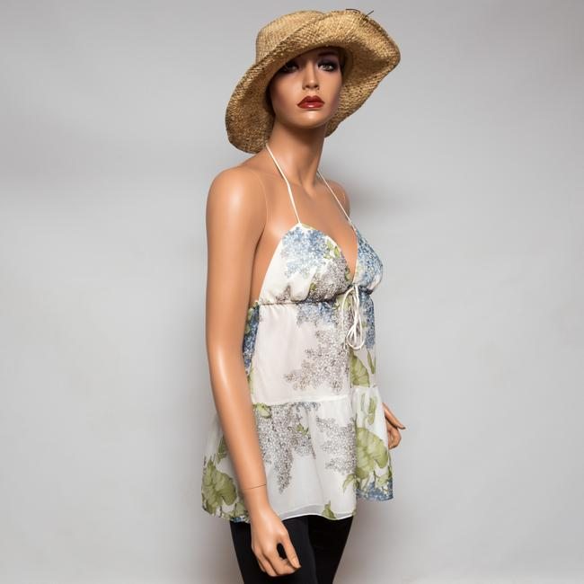 Ingwa Melero Silk Floral Print Summery Multi-color Halter Top