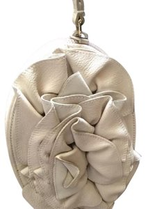 Saint Laurent Flower Ysl Wristlet in Light Tan