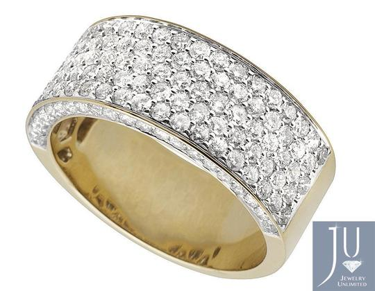 10k Yellow Gold Men's Pave Vs2 Diamond Pinky Band 3.50ct Engagement Ring