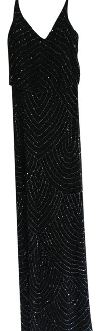 Preload https://item5.tradesy.com/images/adrianna-papell-black-spaghetti-strap-beaded-blouson-gown-long-formal-dress-size-4-s-21629259-0-1.jpg?width=400&height=650