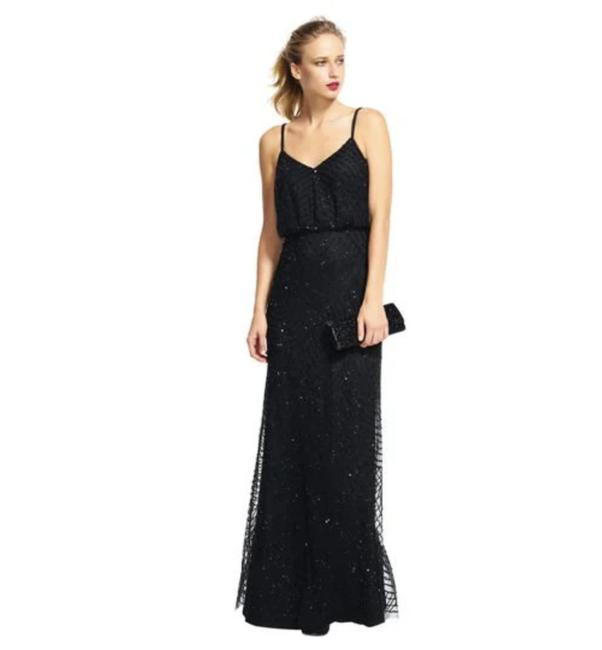 Preload https://img-static.tradesy.com/item/21629259/adrianna-papell-black-spaghetti-strap-beaded-blouson-gown-long-formal-dress-size-4-s-0-2-650-650.jpg