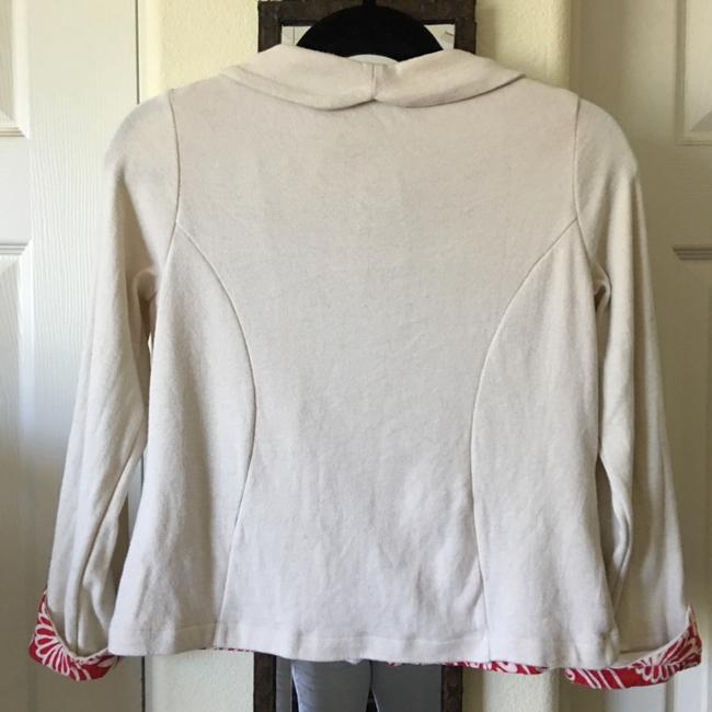 Anthropologie Button Down Shirt off white/red