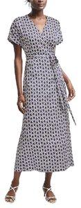 Navy print Maxi Dress by Banana Republic Wrap Maxi