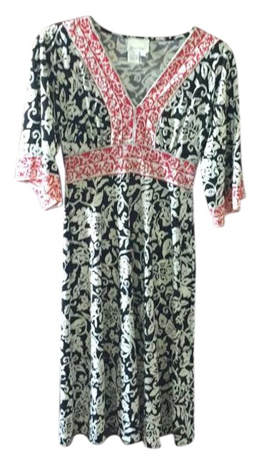 Preload https://item4.tradesy.com/images/donna-morgan-black-white-red-calf-length-mid-length-workoffice-dress-size-6-s-21629288-0-1.jpg?width=400&height=650