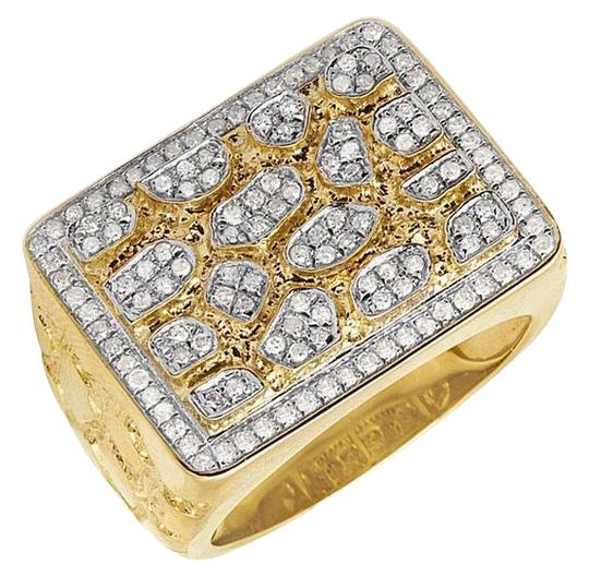 Preload https://img-static.tradesy.com/item/21629308/jewelry-unlimited-10k-yellow-gold-men-s-xl-genuine-diamond-accent-nugget-pinky-1ct-18mm-ring-0-1-540-540.jpg
