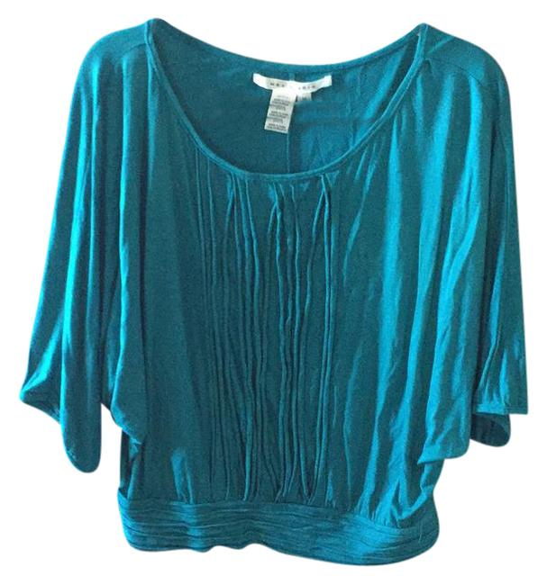 Preload https://item1.tradesy.com/images/max-studio-teal-tunic-blouse-size-8-m-21629400-0-1.jpg?width=400&height=650