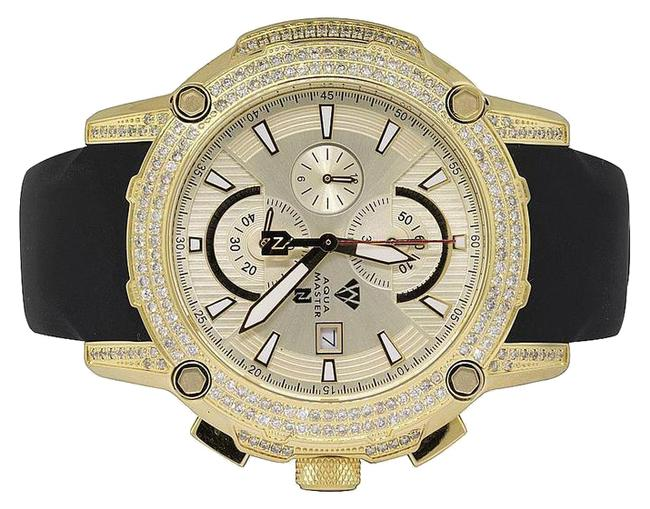 Item - Yellow Gold Plated Limited Edition Nicky Jam Diamond Nj5 5.0ct Watch