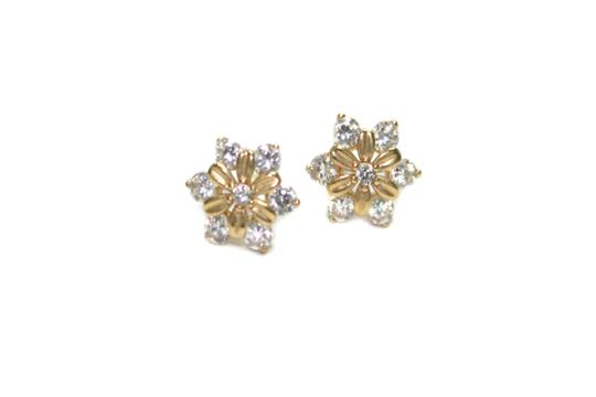 Other 14K Yellow Gold (CZ) Baby Screw Back Post earring
