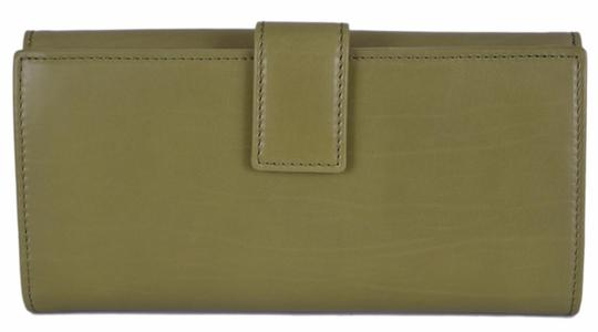 Gucci New Gucci Women's 231835 Green Washed Leather Continental Wallet