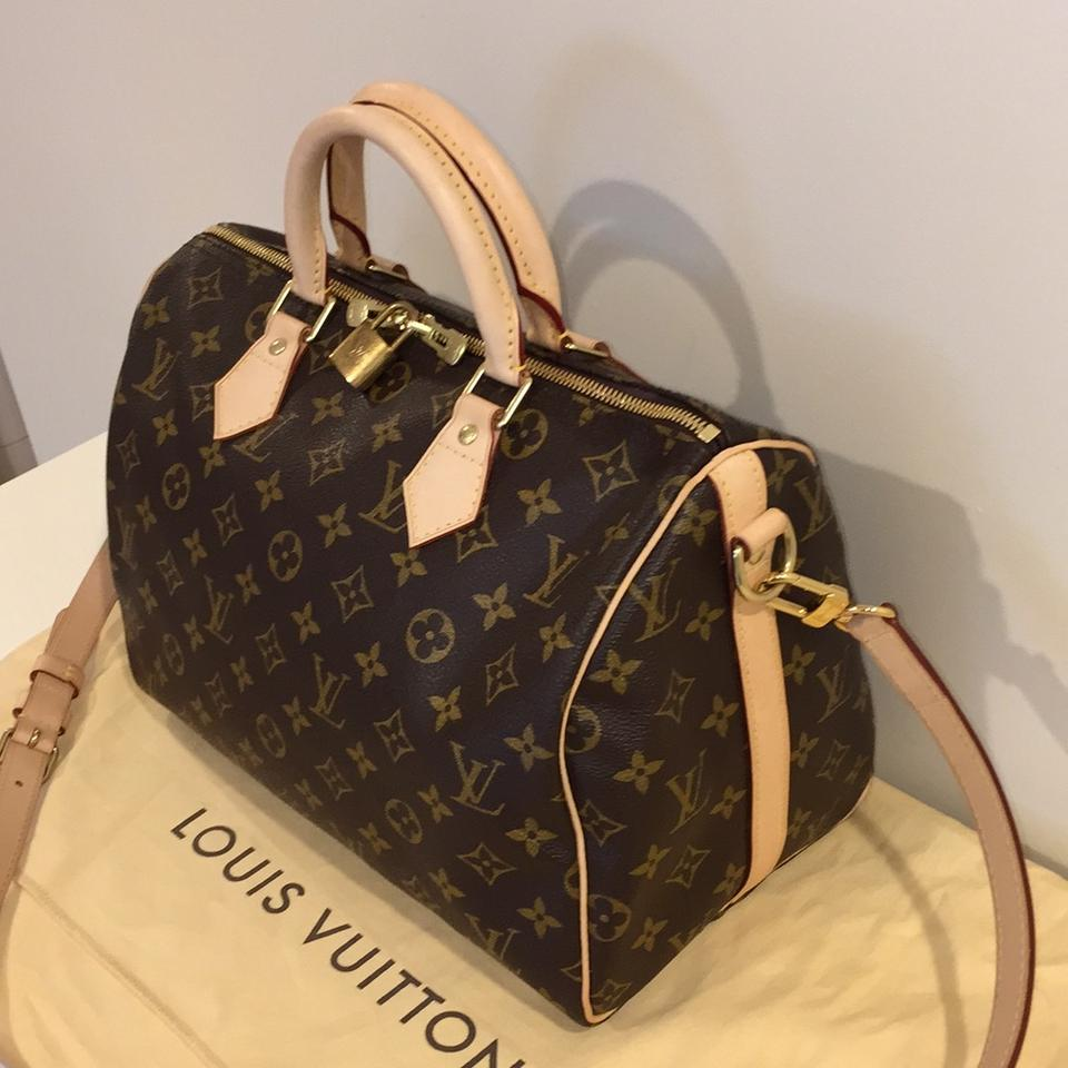 3c6be634cacb Louis Vuitton Speedy Bandouliere 30 Monogram Canvas Cross Body Bag ...