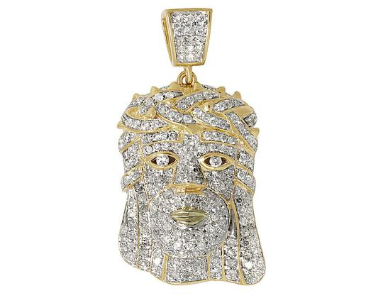 Preload https://item4.tradesy.com/images/10k-yellow-gold-men-s-jesus-face-head-piece-diamond-pendant-10-ct-12-inches-charm-21629643-0-0.jpg?width=440&height=440