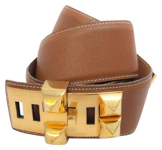 Preload https://item1.tradesy.com/images/hermes-luggage-gold-courchevel-leather-collier-de-chein-size-80-belt-21629655-0-2.jpg?width=440&height=440