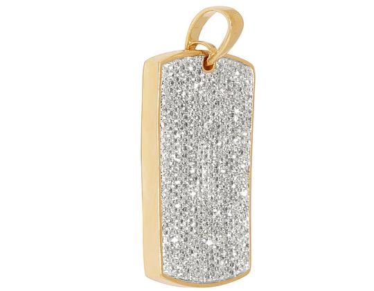 Other Men's Iced Out Diamond Dogtag Fine Pendant 2.0 ct 1.4 inches