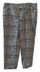 Ann Taylor LOFT Capri/Cropped Pants Black and Tan