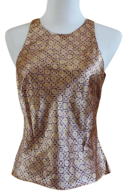 Preload https://item4.tradesy.com/images/ann-taylor-purple-gold-patterned-sleeveless-silk-blouse-size-4-s-21629688-0-1.jpg?width=400&height=650