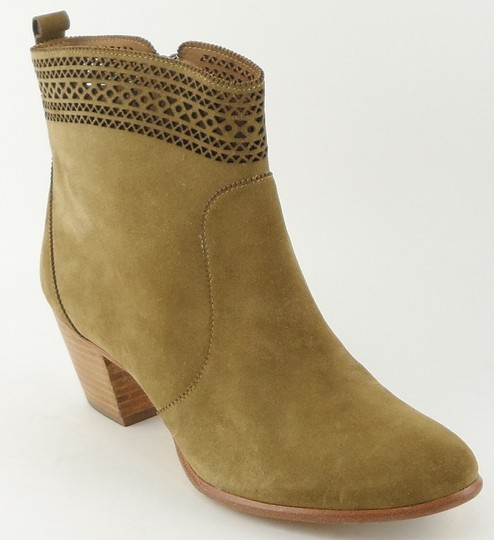 Aerin Suede Ankle Cutout Designer Fennel Boots