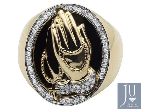 Other Men's Praying Hands Genuine Diamond Pinky Ring 0.35 CT