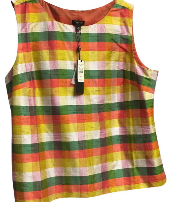 Preload https://item1.tradesy.com/images/talbots-green-orange-cream-and-pink-traditional-night-out-top-size-16-xl-plus-0x-21629720-0-1.jpg?width=400&height=650