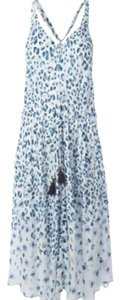 blue and white Maxi Dress by Tory Burch