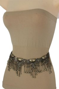 alwaystyle4you Women Vintage Antique Gold Metal Chain Plate Belly Dancing Fashion