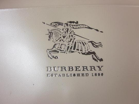 Burberry Silver, Leather & Nova Check Long Folding Wallet (g)