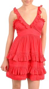 Double Zero short dress Red Cotton Summer on Tradesy