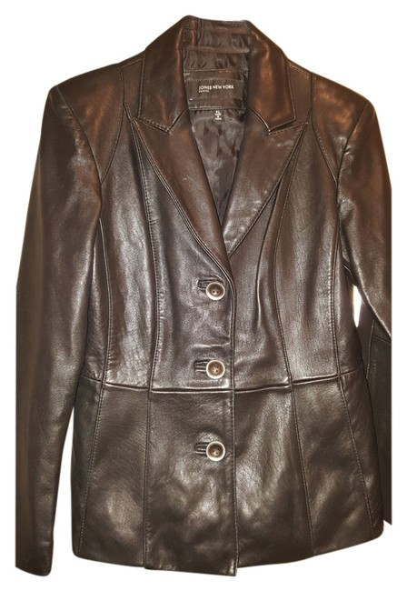 Preload https://item3.tradesy.com/images/jones-new-york-black-leather-jacket-2162992-0-1.jpg?width=400&height=650