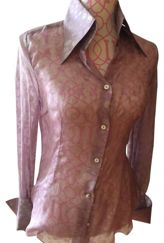11f32be2e Dolce&Gabbana Button Down Shirt Light lilac with silver designs Image 0 ...