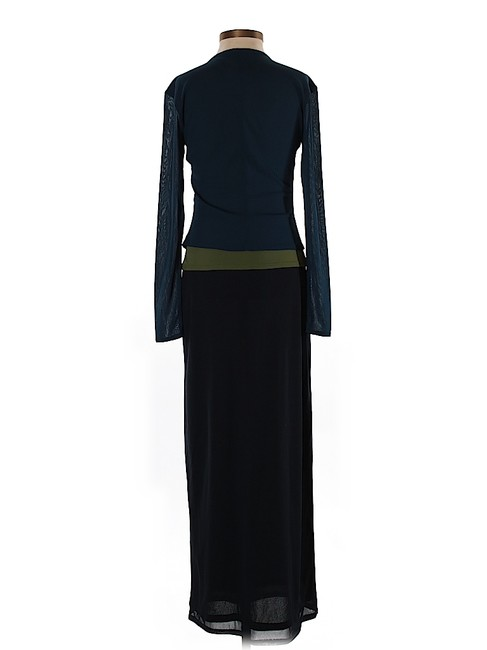 Maxi Dress by Laundry by Shelli Segal Color-blocking Longsleeve