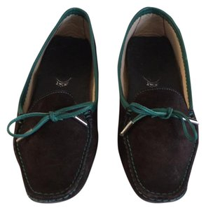 Tod's brown with turquoise trim Pumps