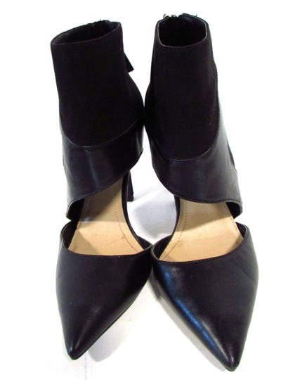 Trafalud Heels Stiletto Ankle Cuff Zipper Sexy Black Pumps