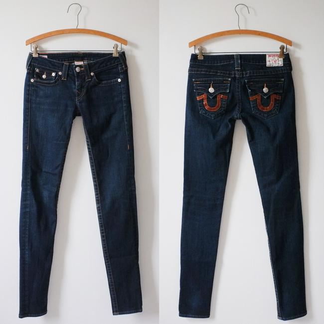 True Religion Julie Style 10-599bc Cut 603813 Skinny Jeans-Dark Rinse
