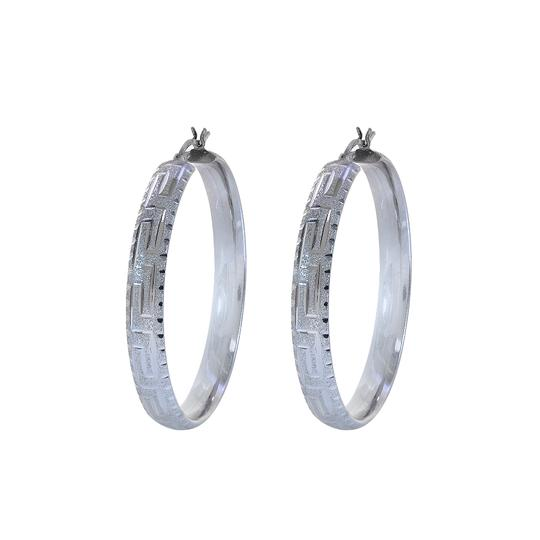 Preload https://item3.tradesy.com/images/avital-and-co-jewelry-14k-white-gold-diamond-cut-hoop-earrings-21630322-0-0.jpg?width=440&height=440