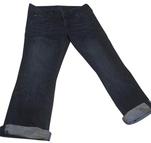 Hudson Capri/Cropped Denim-Dark Rinse