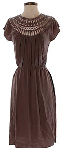 Twelfth St. by Cynthia Vincent short dress Brown Silk Cut-out A-line on Tradesy