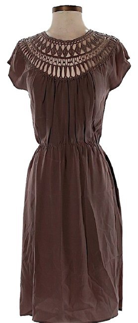 Preload https://item5.tradesy.com/images/twelfth-st-by-cynthia-vincent-brown-silk-cutout-mid-length-short-casual-dress-size-0-xs-21630409-0-1.jpg?width=400&height=650