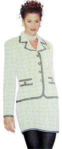 St. John ST JOHN COLLECTION MARIE GRAY 02 VINTAGE 2PC TWEED JACKET SKIRT SUIT