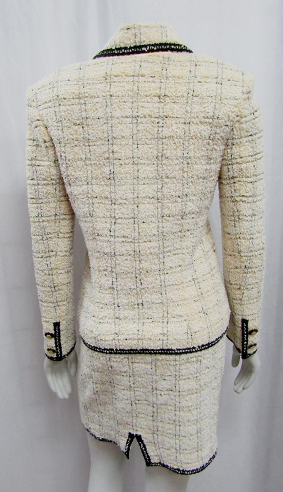 33f2ae7692b9 ... ST JOHN COLLECTION MARIE GRAY 02 VINTAGE 2PC TWEED JACKET SKIRT SUIT  Image. 123456789101112