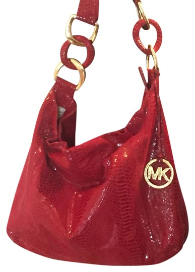 Preload https://item1.tradesy.com/images/michael-michael-kors-red-suede-leather-hobo-bag-21630525-0-2.jpg?width=440&height=440